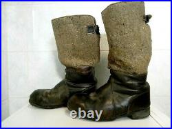 Original WW2 bottes hiver ELITE WH LW allemand RBNr german winter boots stiefel