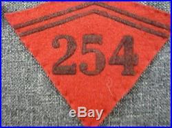 PATTES DE COL WW2 DU 254ème REGIMENT D'ARTILLERIE MODELE 1938 FRANCE 40