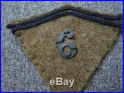 Paire De Pattes De Col Ww2 Du 6eme Regiment D'infanterie France 40