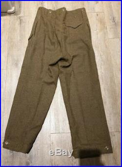 Pantalon BD Battledress GB WW2 anglais Us