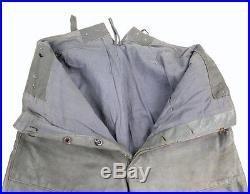 Pantalon Kriegsmarine en cuir gris, modèle officier WW2 (matériel original)