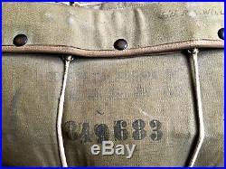 Parachute dorsal US 1943 original B-8 WW2 pilote de B17 P51 P38