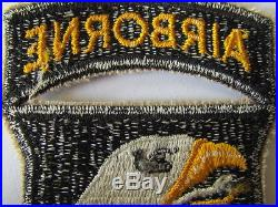 Patch 101eme Airborne Us Wwii Langue Blanche Screaming Eagle Aigle Hurleur