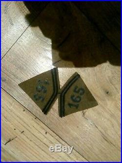 Pattes de col 165 RIF Vosges Maginot France 40 1940 français ww2