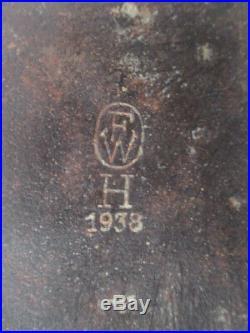 Pelle Droite Wh Datée 1938- Tbe+ Allemagne