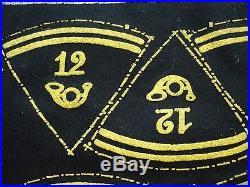 Planche 4 paires pattes col troupe procédé GILMANT 12 BCA chasseurs alpins ww2