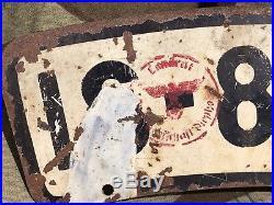 Plaque Immatriculation Moto WH Allemande 2WW Originale WK2 39-45