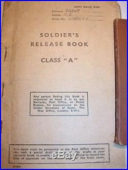 Plaque identité anglaise WW2 et livrets militaire du même soldat