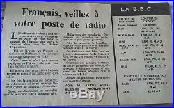 Poste valse radio résistance ffi bbc para débarquement sas soe maquis ffl