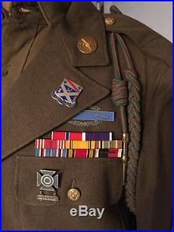 Procès de Nuremberg tenue US WW2 de Troupe 1ère DI de Garde au Procès