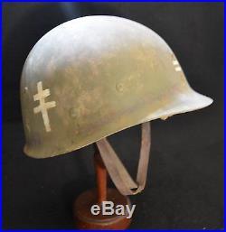 Rare Casque Us M1 9 Lieutenant Des Ffl 2 Db France Libération Original