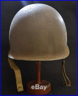 Rare Casque Us M1 De La Premiere Armee Francaise Liberation Original