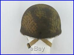 RARE Casque de parachutiste ANGLAIS SAS ORIGINAL US WWII 1944 1945 39 45