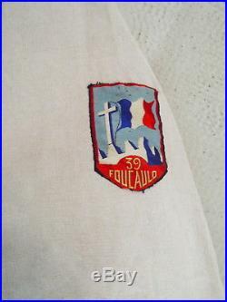 Rare Blouson De Cadre Cjf / Chantier De Jeunesse Groupe 39 Foucauld Ffi Ftp 1941