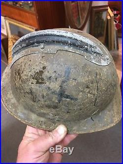 Rare Casque Adrian Ww2 Ffi Maquis Resistance French Helmet 39/45 Jus De Grenier