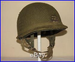 Rare Casque Para Us Ww2 Complet Original Militaria Us Wwii
