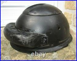 Rare Casque Precoce-Equipage de Chars GB WW2-Etat Top