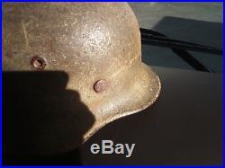 Rare! Casque allemand M42 camouflé camo 39-45 ww2