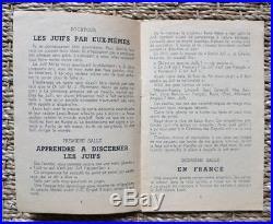 Rare Catalogue de l'exposition Le Juif et la France au palais Berlitz WW2