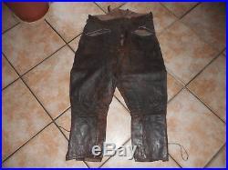 Rare Pantalon Cuir De Pilote Lw Trouver A Beaumesnil 1944 Dans L Eure