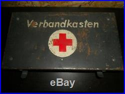 Rare caisse VERBANDKASTEN quasi complète infirmier Allemand WW2 1939-45
