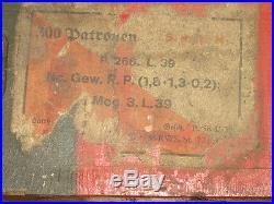 Rare caisse bois pour carton de cartouches Mauser 98K du soldat Allemand WW2