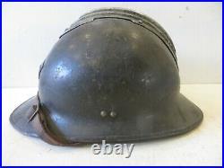 Rare casque ADRIAN de Chasseur, modèle 26 avec insigne modèle 15. WW. 2