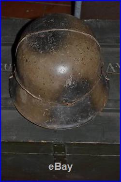 Rare casque allemand camouflé campagne afrique du nord italie 1942