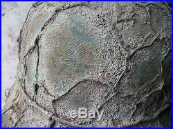 Rare casque allemand camouflé grillagé nominatif secteur chambois 39 45 + plaque