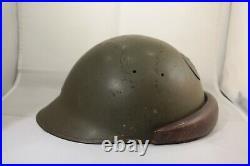 Rare casque d'équipage d'automitrailleuse modèle 35. Fabrication limoges Boudy