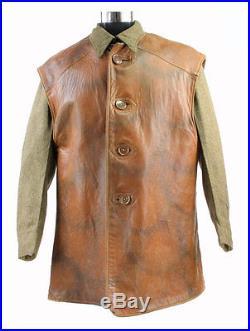 Rare leather jerkin camouflé! 1944 Anglais WW2 (matériel original)