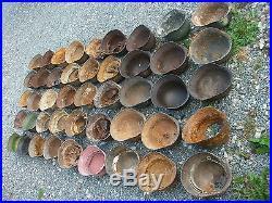 Rare lot 45 casque allemand fouille et grenier chambois 39 45 militaria