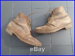 Rare paire de brodequins Français modèle 1917 daté 1940 ww2