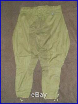 Rare pantalon culotte toile coton AFRIKAKORPS WW2
