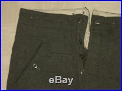 Rare pantalon droit drap feldgrau du soldat Allemand daté 1941 WW2