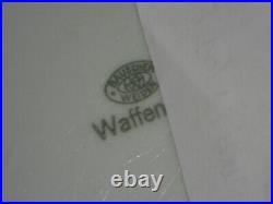Rare plat carré porcelaine Waffen mess Allemand WW2