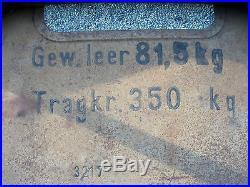 Rare remorque allemande jaune sable datée 1943 camoufflée normandie militaria