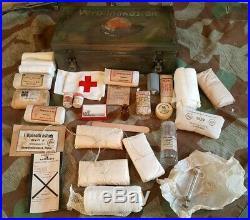 Rare verbandkasten allemande camo ww2 39-45 sanïtater. D. R. K Normandie 2 guerre