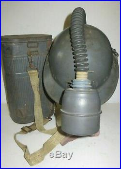 Rarissime casque ADRIAN de la Marine avec appareil de filtration, 2 ème guerre