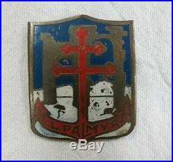 Rarissime insigne militaire marine ML 1143 Palmyre vedette port Levant FFL 1942