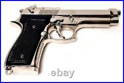 Réplique Beretta 92 F 9mm Denix 1254NQ CHROME pistolet FACTICE 1975