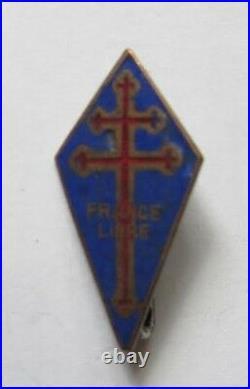 Résistance WW-2 Insigne des Forces Navales Françaises Libres Très rare