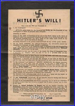 Résistance (août 1944) / Tract Satyrique Contre Hitler / Libération De Paris