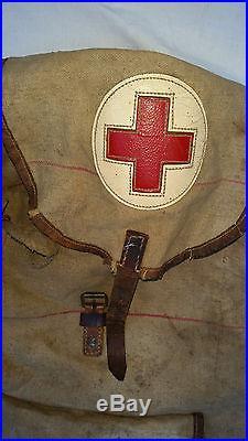 Sac à dos infirmier SANITÄR RUCKSACK wehrmacht 1944 libération original wh ww2