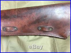 Scabbard, Rifle, M-1938 Etui Fourreau Cuir Pour Usm1/ Garand Us Ww2 Jeep Willys