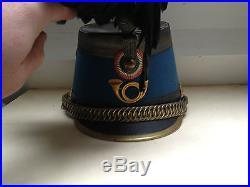 Shako d'officier de Chasseur à Cheval, poilu, bleu horizon, cavalerie