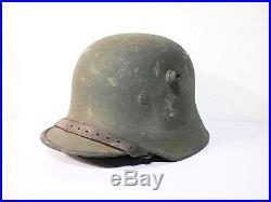 Stahlhelm 1917 feldgrau casque à pointe Prussien Allemand Verdun 14-18 39-45