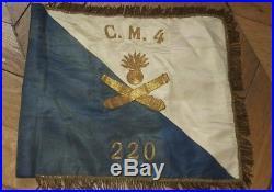 Super fanion 220 RI compagnie de mitrailleur Maginot Alsace 1940