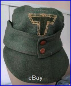 Superbe Bergmütze feldmütze de troupe Gebirgsjäger Heer 100% ORIGINAL WW2