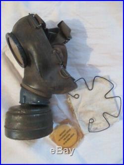 Superbe Masque A Gaz Wh Complet Daté 1942 Camouflé 3 Tons Tbe++ Allemagne